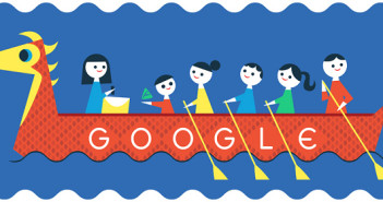 [Google塗鴉] 端午節 ~ 你喜歡立蛋、吃粽子還是看賽龍舟呢??