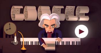 [Google塗鴉] 樂聖貝多芬 Beethoven 245 歲冥誕@舉世聞名音樂大師