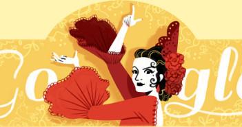 [Google塗鴉] Lola Flores 蘿拉・弗蘿莉斯西班牙舞蹈家 93 歲冥誕