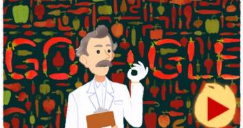 [Google塗鴉] Wilbur Scoville 韋伯·史高維爾辣度發明人冥誕